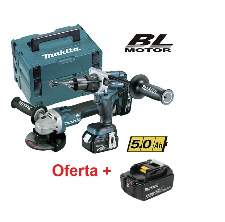 Kit DGA504Z + DHP481Z 5,0Ah DLX2130TJ2