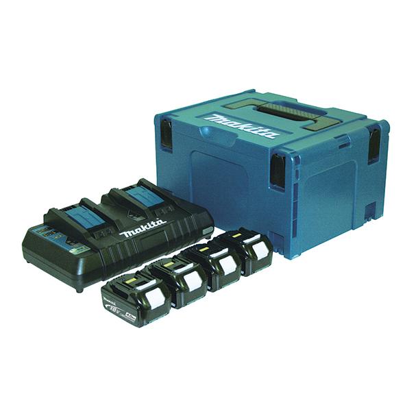 Kit de baterias 5,0 Ah BL1850Bx4 + DC18RD Makita 197626-8