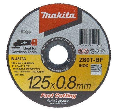 Disco de corte metal 12UNID 125X0,8X22,23 B-45733