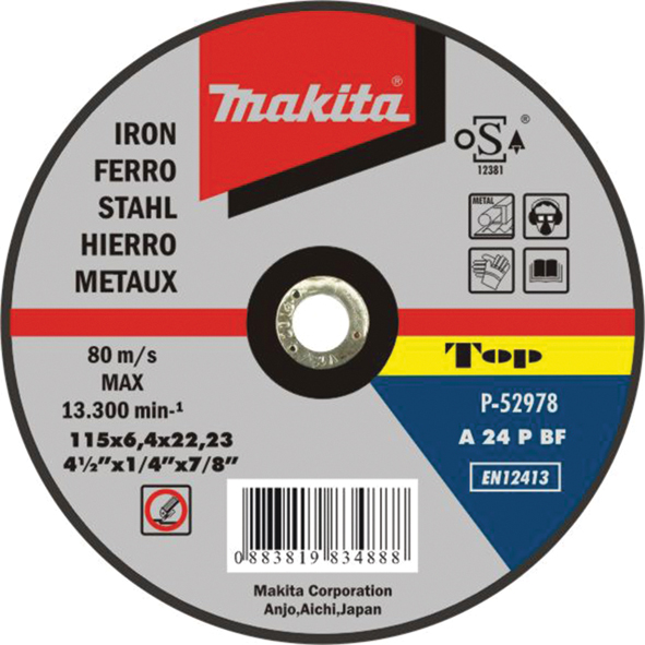 DISCO DE REBARBAR MET 150X6,4X22 P-52990